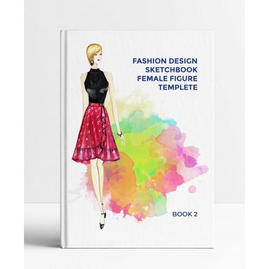 Fashion design figure templete Sketchbook 2